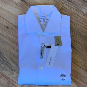 Calvin Klein Men's Dress Shirt Slim Fit Non Iron